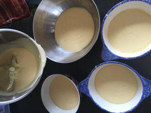 Gâteau Arc en Ciel en forme de 3, recette au thermomix