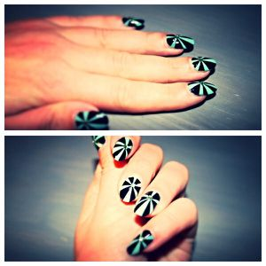 Scotch Nail art