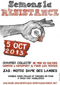 Semons la résistance - Samedi 5 octobre 2013