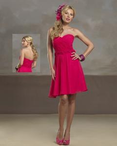 Robe de mariée rose et courte