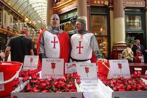 The English celebrate St Georges's Day!