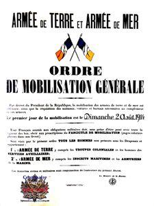MOBILISATION 1914-1918, C'EST PARTI POUR QUATRE ANS !