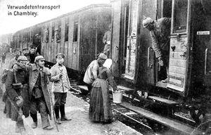 LE SERVICE DES TRAINS SANITAIRES ALLEMANDS (MAUBEUGE, 1914).