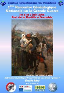 2e RENCONTRE GENEALOGIQUE NATIONALE SUR LA GRANDE GUERRE - GRENOBLE 2015