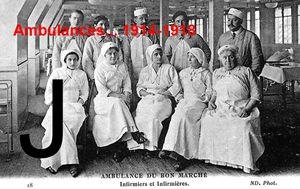 AMBULANCES... 1914-1918 - Lettre J
