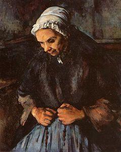 Cézanne : La vieille femme au chapelet