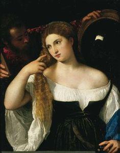 """""""La femme au miroir"""". Le Titien"""