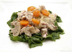 Acelgas con pollo y verduras