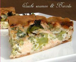 Quiche Brocolis et Saumon Frais