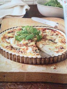 Quiche au fromage de chèvre et aux lardons