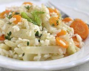 Risotto de carottes et fenouil au riz de konjac