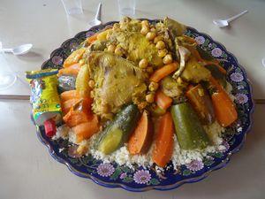Couscous au poulet et aux légumes