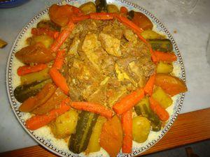 Couscous à la viande de veau et aux légumes
