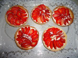 Tartelettes à la fraise et à la mascarpone
