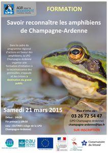 Samedi 21 mars 2015 : savoir identifier les amphibiens de Champagne-Ardenne
