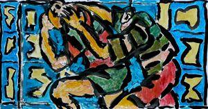Peinture de rugby, critique de Catherine Kintzler sur mon travail