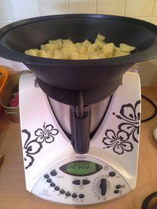 Gratin de pâtisson et pommes de terre WW au Thermomix