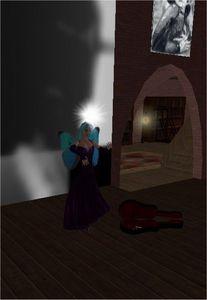 Je fais la manche en jouant sur un violon invisible !