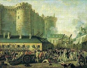 La Prise de la Bastille le 14 juillet 1789.