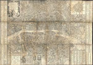 Plan de Paris en 1787 par Brion de la Tour.