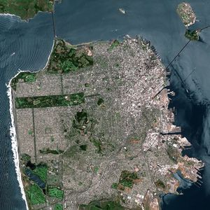 Image satellite de San Francisco.