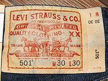 Logo original de Levi Strauss & Co.
