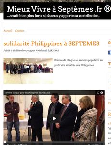 solidarité Philippines à SEPTEMES