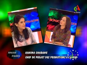 Kahina Chabane sur Canal Algérie