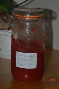 La sauce tomate qui se conserve ( longtemps ) sans cuisson , sans stérilisation, et évidemment sans conservateur.