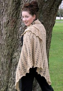 Le châle Aran weight Victorian lace shawl