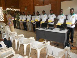 Cérémonie de remise de certificat de fin de formation aux étudiants de la deuxième promotion de BRACRU-TOGO
