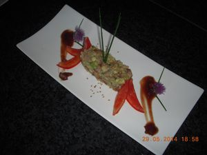 Salade d'avocat sauce asiatique