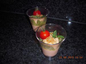 Verrine Tiramisu tomate et aubergine