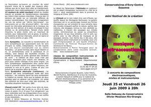 Mini Festival de la Création musicale à Evry