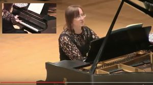 video of pianist Kathryn Woodard performing Petites Variations