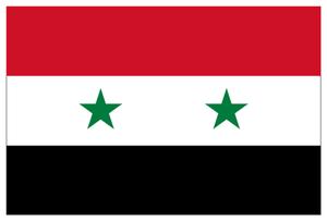 Drapeau de la Syrie.