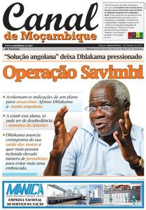 Journal Canal de Moçambique, le 7 octobre 2015.