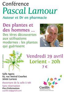 Conférence Les plantes et les hommes vendredi 29 avril