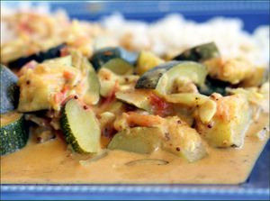 Curry de courgettes au lait de coco (vegan)