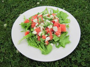 Salade Pastèque-Fêta