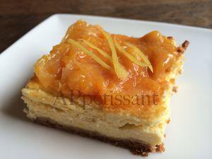 Cheesecake aux oranges sanguines