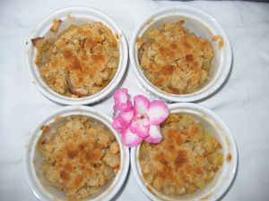 Crumble pomme banane