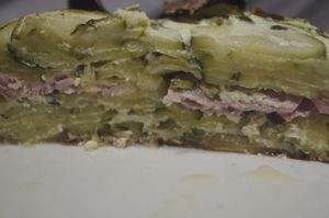 Gratin courgettes/jambon