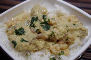 Curry de lotte aux crevettes