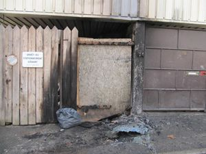 poubelles incendiées rue de la Pannevert