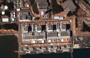 Vue satellite de la centrale de Fukushima Daini