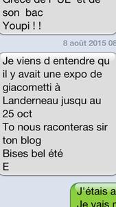 Expo Giacometti à Landerneau