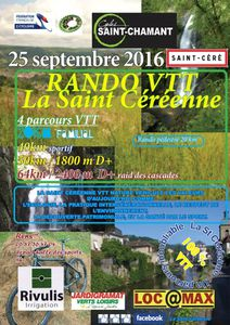 VTT - La Saint Céréenne 25-09-2016
