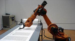 Journaliste remplacé par un robot.