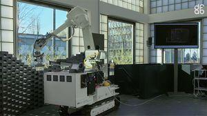 Le robot bâtisseur capable de s'orienter seul sur un chantier